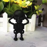Free shipping wholesale 10pcs/lot  cartoon black skull  model usb 2.0 memory stick flash pen drive