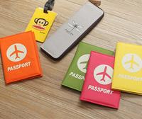 Fashion brief short logo design passport holder passport bag testificate set passport cover passport holder
