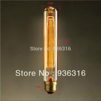 Free shipping 16pcs/lot  Edison retro personality large light bulb filament  foam transparent bulb 32*185mm  E27 40w T185