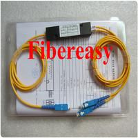 DHL Free Shipping 5pieces/lot  PLC Splitter FTTH 1x2 Optic Fiber Coupler, Box Module, SC/UPC Connector 1.5meters