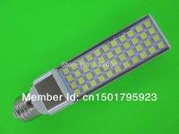 (Free shipping) LED Bulb 9W 5050 SMD 44 LED E27 G24 Corn Light Lamp Cool White/Warm White AC 85V-265V Side lighting