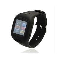 Cellphone wristwatch in Black with Quad-Band and Bluetooth