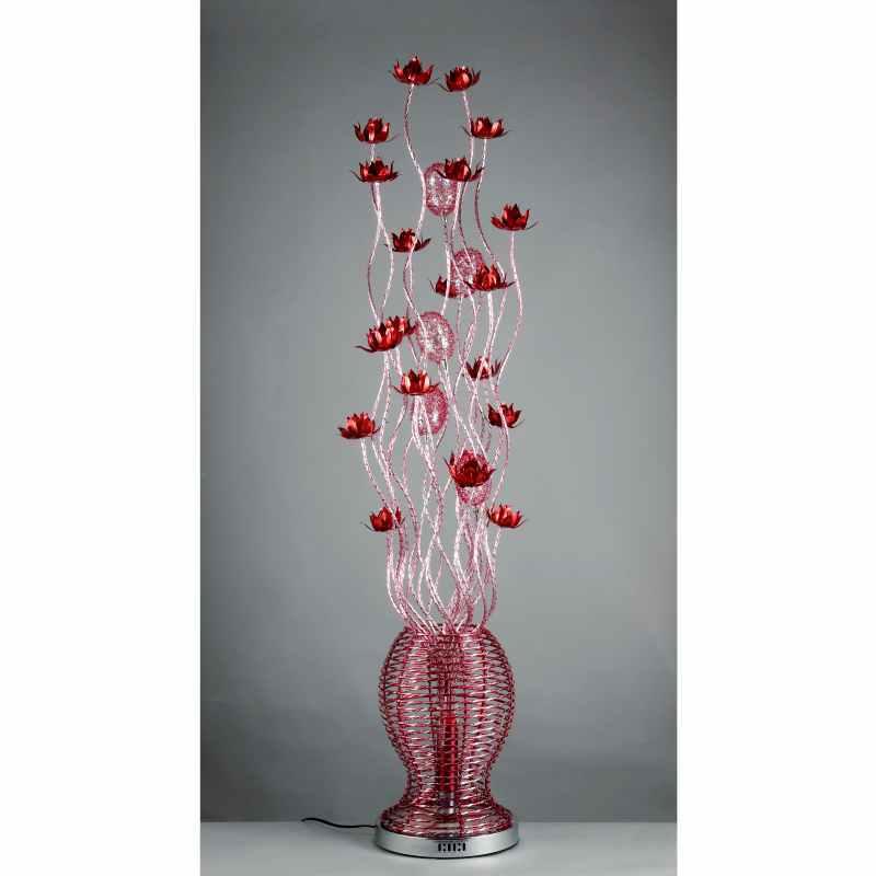 Rose vase floor lamp handmade flower basket vase lamps for Light up flower lamp