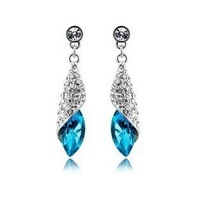 Austrian Crystal Earrings sea thoughts - Desert light multicolor selection ZXD0013