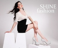 Free shipping fashion quality 11 CM heel woman shoe with rhinestone big size EU 33-41 from manufacturer