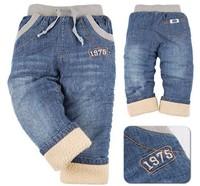311 plus velvet jeans child berber fleece children's jeans pants  KK rabbit