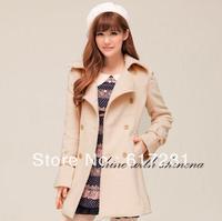 Free shipping,fashion autumn-winter wild temperament coat women's jackets, casual dress wild Slim stylish long-sleeved jacket