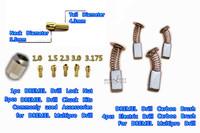 DREMEL Multipro Drill Lock Nut,4pcs A grade carbon brush,5pcs Copper chuck,electric drill motor brush,Rotary Dremel accessories