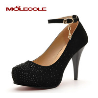 Sexy elegant fashion rhinestone paillette fashion stiletto platform shoes