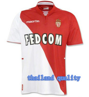 Wholesale ! TOP thailand QUALITY Monaco 13-14  Home red/white   Jersey soccer shirt can custom free  shipping S,M,L,XL