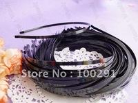 Jewelry Handmake DIY findings - 6mm 500piece black metal headband head band hair clip hair bobby pins findings accessories