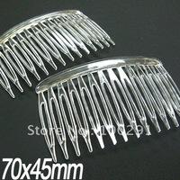 DDF-Free ship!!! 300pcs/lot Clear plastic hair comb high density teeth (Transparent) 75x45mm