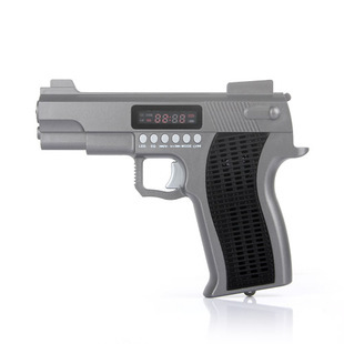 Toy pistol audio portable card speaker tf card usb flash drive band fm led lighting speaker