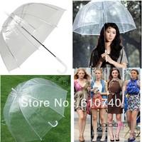 Wholesale - 20 PCS Transparent Clear Automatic Umbrella Parasol For Wedding Party Favor