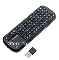 Mini (Black) KP-810-10-BTT Wireless Bluetooth Handheld Keyboard and Multi-Touchpad w/ Laser Pointe