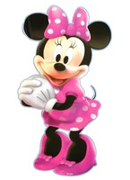 Free shipping ,  minnie wall sticker, cartoon decals