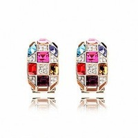 Accessories crystal jewelry luxury quality personalized elegant queen of the bright earrings - 1019