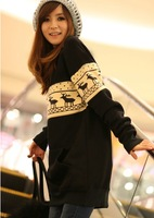 Free shipping 2013 maternity clothing autumn maternity outerwear plus size maternity long loose design sweatshirt