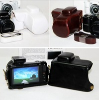 Brand New Leather Case Bag Cover For Samsung NX2000 NX-2000 Camera with strap J0014 Free Shipping