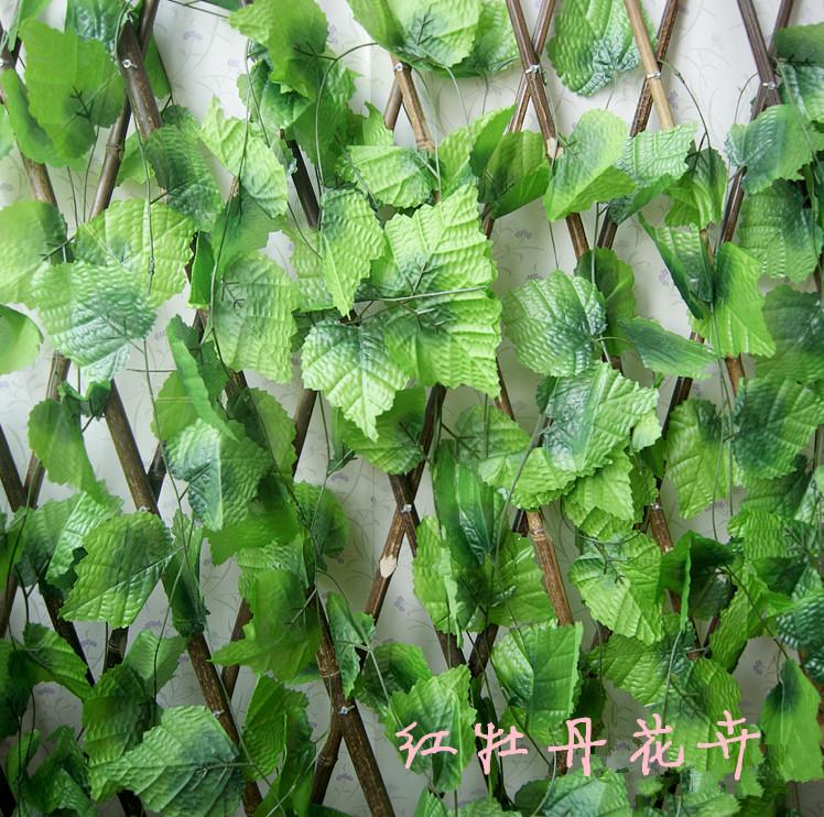 Grape leaves rattails vine leaves qihii large plants decoration ceiling plastic(China (Mainland))