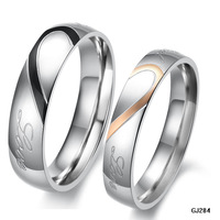 Accessories hot-selling fashion jewelry love lovers ring titanium ring gj284 ring