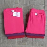 Free Shipping Women's thermal long johns underwear set 100% 8804 cotton flat sheet