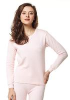 Free Shipping 2 set bsa women's thermal set thickening cotton o-neck long-sleeve underwear set 21834d 0