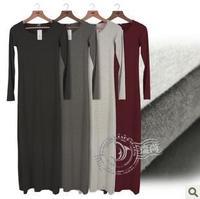 2013 New Autumn Winter Long Dress Fashion European Fashion Long Sleeve Slim Fit Dress Women Long Dress Free shipping