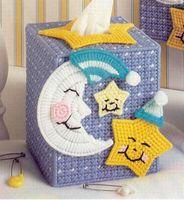 Three-dimensional embroidery - three-dimensional cross-stitch square tissue box a-236