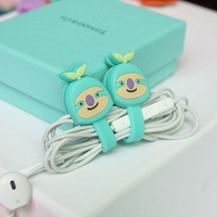 Cute green leaves Headset/Headphone/Earphone Cable Cute Wrap Organizer Winder Holder Manager