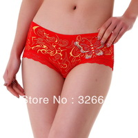 free shipping Supr Mierober Embroidered Butterfly Flowers lace Panties Women's Underwear Lingerie