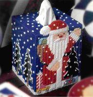 Three-dimensional embroidery - three-dimensional cross-stitch square tissue box a-225