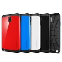 In Stock 1pcs SLIM ARMOR SPIGEN SGP case for Samsung Galaxy note 3 note3 N9000 n9005 + Retail Package + Free screen protector