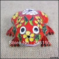 Free shipping Cloisonne Frog / Gifts / Ornaments / Big Frog / Decorations