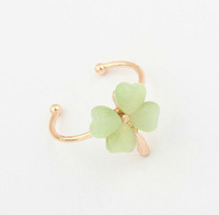 Min. Order $15 (Mix Designs) Factory Direct Hot Sell Korea New Fashion Four Leaf Clover Women Alloy Rings,Free Shipping,R35