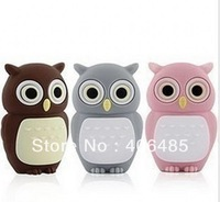 Novel lovely Owl USB Flash Pen Drive 8GB 16GB 32GB flash memory   Free Shipping
