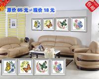 18 diy diamond painting full diamond rhinestone decorative painting rhinestone pasted painting butterfly multicolor