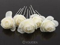 5X Women's Camellia Flower Pattern U Hair Pin Jewelry Hairpin Clip Bob 5Colors 62007