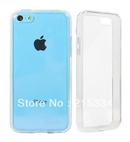 Slim Clear Back Case with Bumper / Cover for iPhone 5C  - Crystal Clear