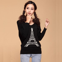 2013 autumn pullover torx flag wool sweater batwing sleeve long-sleeve top sweater