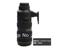 Wholesale free shipping Nikon 70-200 creative insulation kettle insulation stainless steel cup thermos 500ml