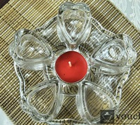 heart-shaped glass Warmer base for teapot, glass tea set warmer Heat Resistant,Heating base+Glass heat insulation pad+good gift