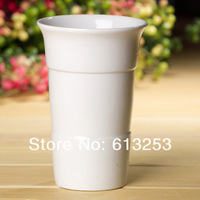 Modern Fashion Ceramic Flower Vase. Household Decorative Flower Pot. White Cup. Wholesale  ID:A0109104