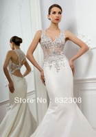 Free Shipping Hot Style Wedding Bridal Dresses Customize Sexy Style Wedding Gown 2014