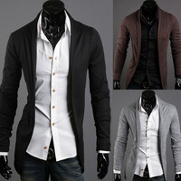 Autumn male slim cardigan long-sleeve sweater 305p25