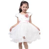 Female child princess dress 2014 fashion kids/children party or wedding dresse vestidos free shipping summer