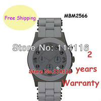 New Men's MBM2566 MBM 2566 Gray Chronograph Steel Silicone Quartz Watch