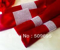 wedding table decoration 8 rows  rhinestone diamond napkin ring LE008S