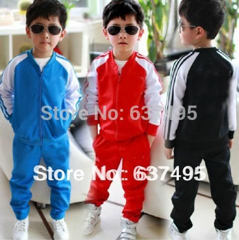 Discount Wholesale Boy&Girl Sport Sets /shirt + pants/baby wear Kids clothing Kids cloth Brand FREE SHIPPING(China (Mainland))