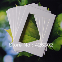 Picture mat board 8x10'' ,white,to fit 6x8'' photo,free  ,100pcs/pack ,shipping